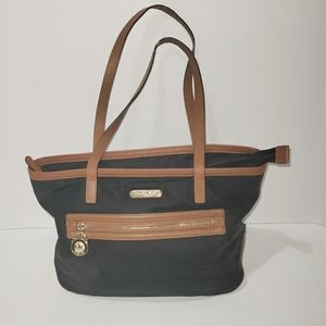 Micheal Kors Black & Brown Kempton Tote